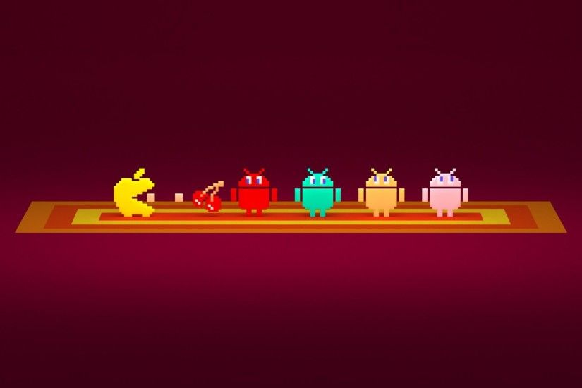 Pac-Man Apple And Android Logos