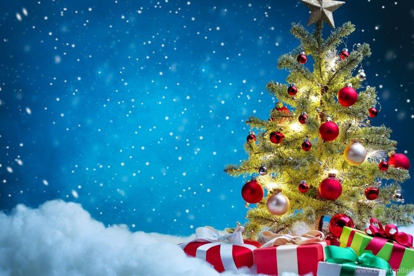 netbook - Christmas Tree Snow Background Images