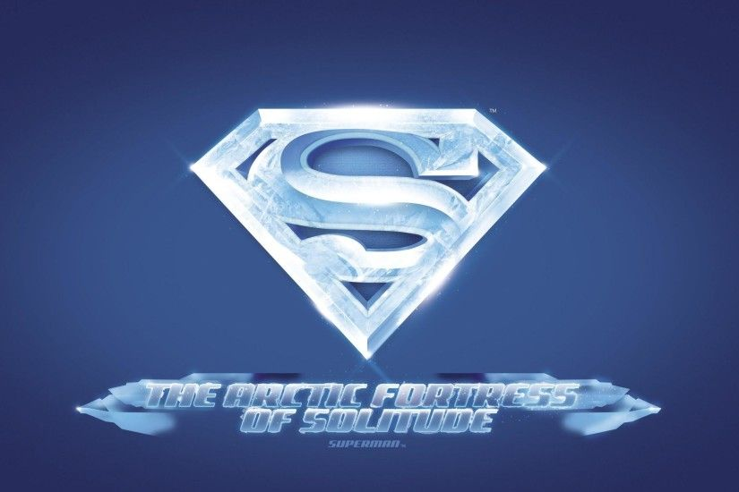 Superman Fortress of Solitude Logo Wall Mural