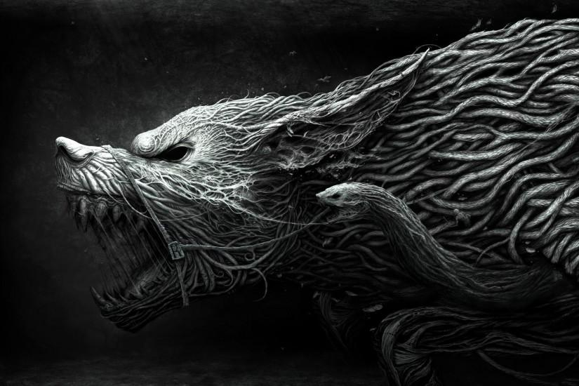 Wallpapers For > Evil Wolf Wallpaper