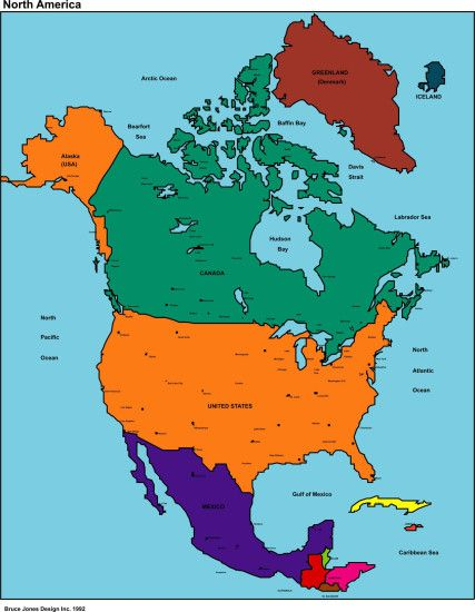 map of the north america | Free map of North America for online purpose,  wallpaper
