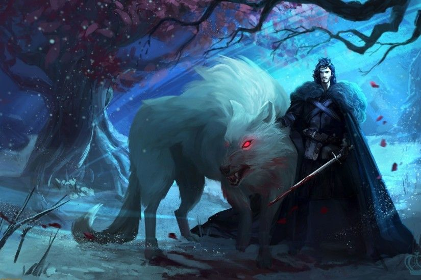 Game Of Thrones, Wolf, Direwolves, Direwolf, Concept Art, Sword, Fantasy  Art, Artwork, Jon Snow, A Song Of Ice And Fire, Ghost Wallpapers HD /  Desktop and ...