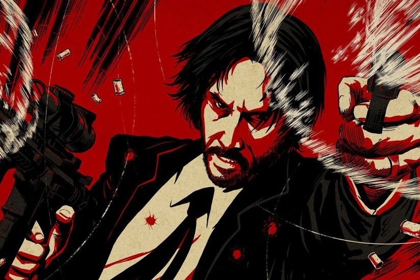 john wick chapter 2 guns keanu reeves artwork hd wallpaper