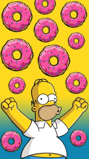 Homer Simpson Donuts 1080 x 1920 FHD Wallpaper Homer Simpson Donuts 1080 x  1920 FHD Wallpaper