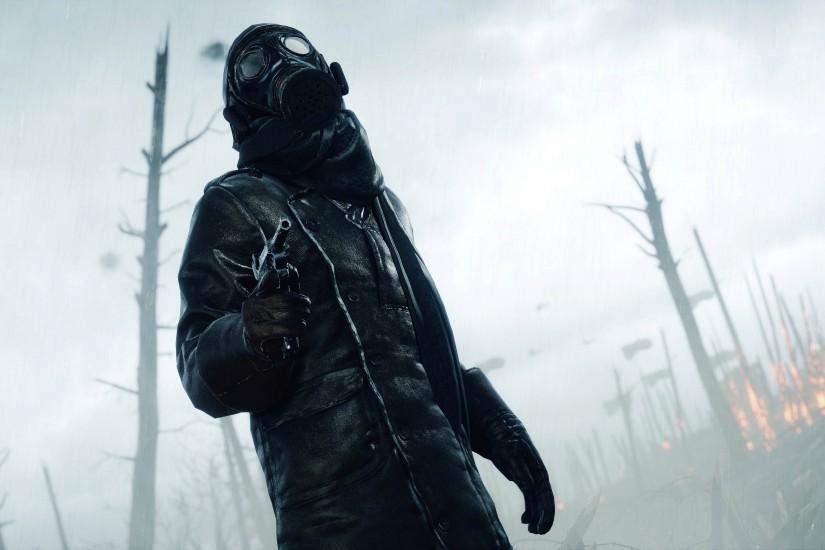 Soldier with Gas Mask - BF1 3840x2160 wallpaper