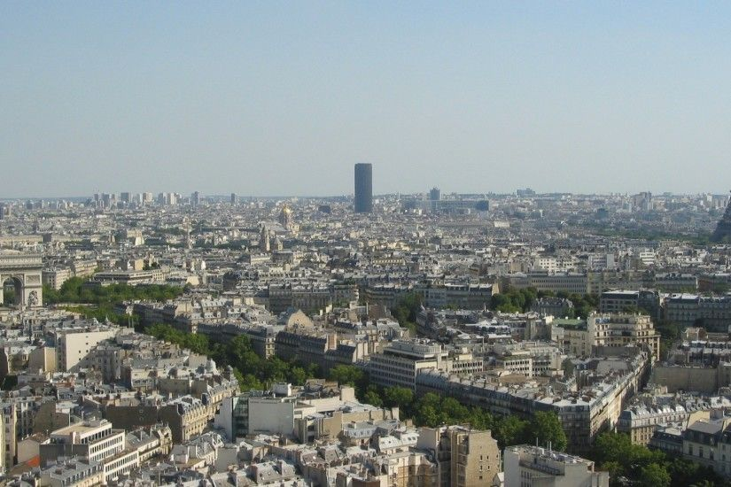 Preview wallpaper paris, eiffel tower, arc de triomphe, city 1920x1080