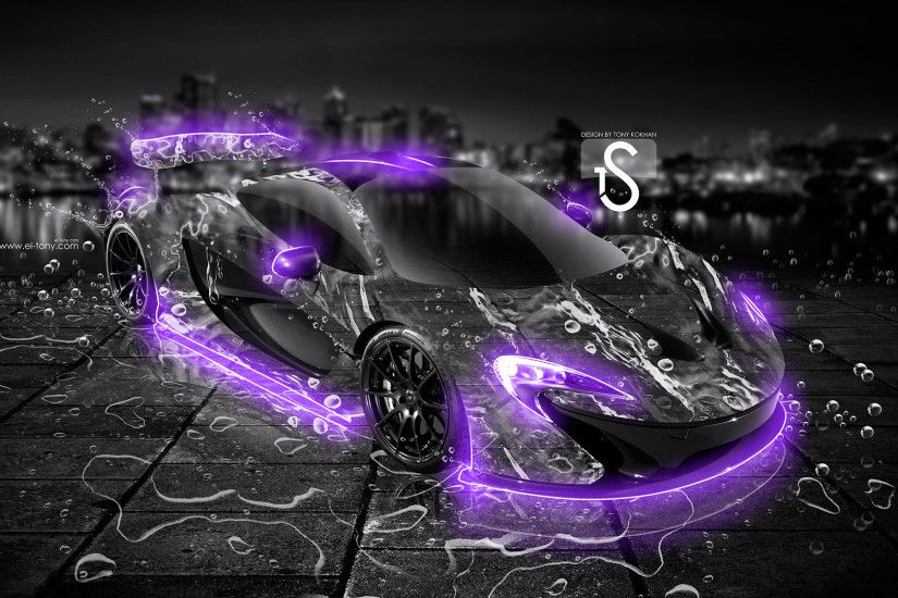 McLaren-P1-Water-Car-2013-Violet-Neon-HD-