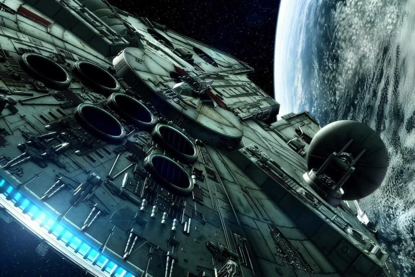 The Millenium Falcon - Star Wars wallpaper - Free Wide HD Wallpaper