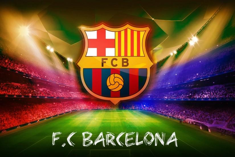 Barcelona Logo Poster Football Wallpaper PC Wallpaper with 1920x1080 .