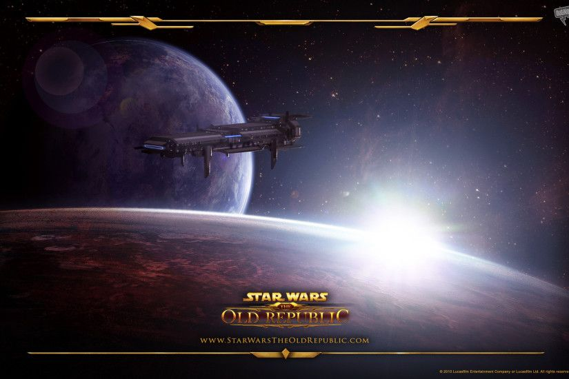 Video Game - Star Wars: The Old Republic Game Star Wars Republic Spaceship  Planet Space