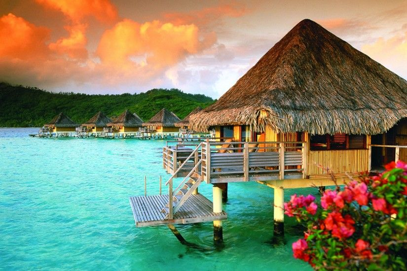 lovely bora bora wallpaper