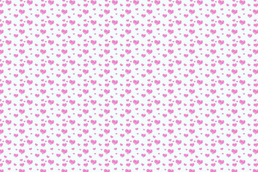 wallpaper pink heart pattern (2560×1440)