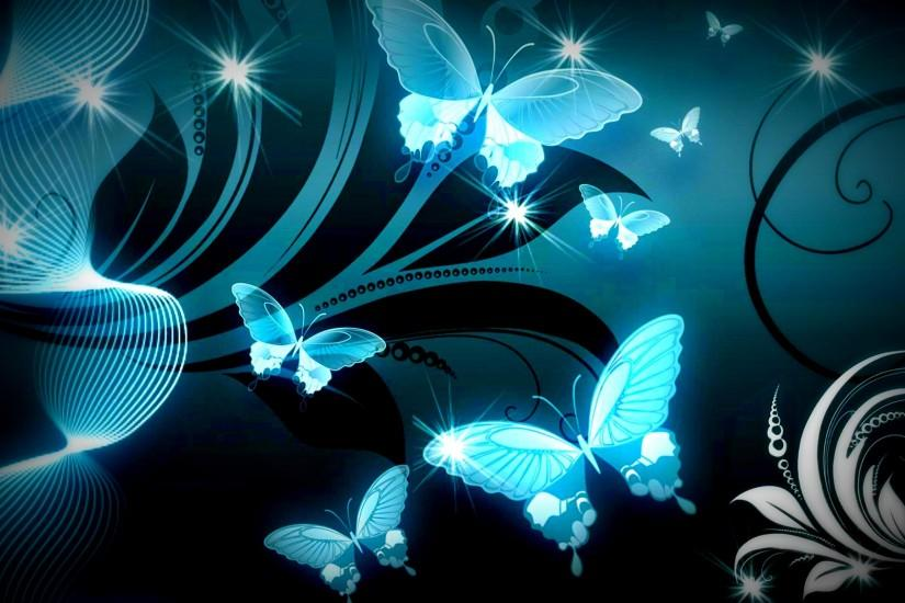 Butterfly Sparkle Trail Wallpapers