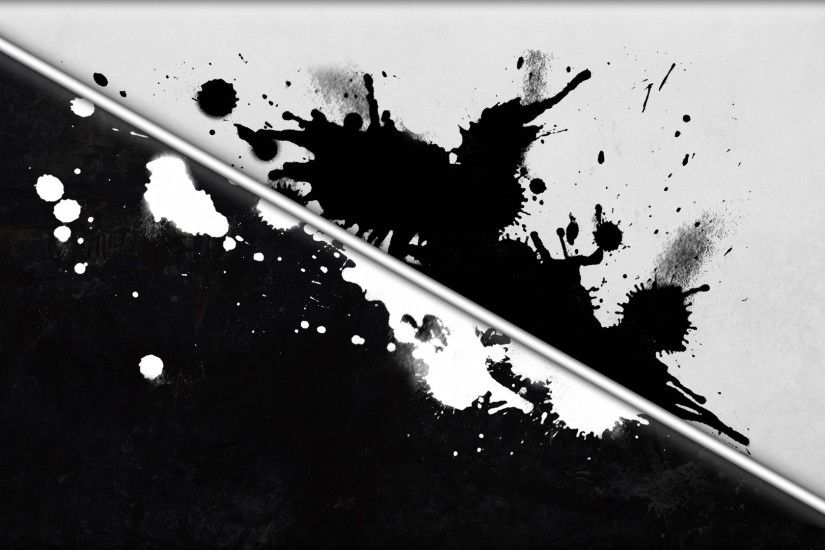 digital Art, Abstract, Paint Splatter, Lines, Monochrome, Grunge, Artwork,  Black, White Wallpapers HD / Desktop and Mobile Backgrounds