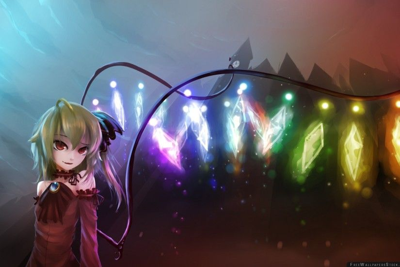 Touhou Flandre Scarlet Girl Art Wallpaper