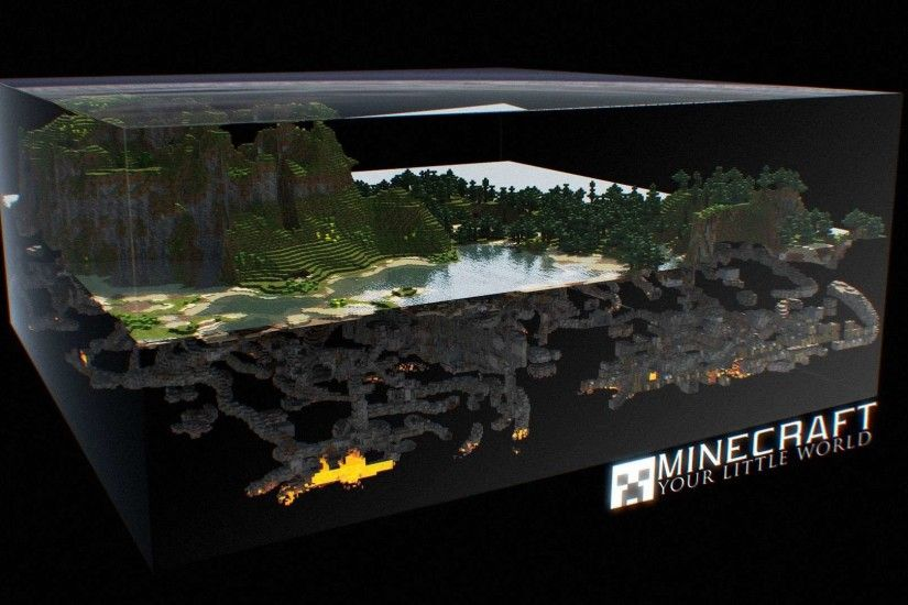 Minecraft 3D World HD Wallpaper » FullHDWpp - Full HD Wallpapers .