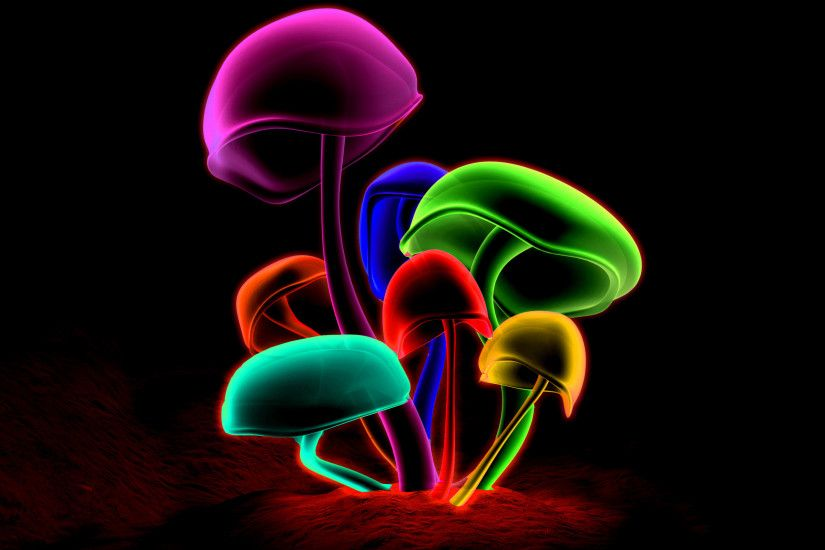 Colorful Mushrooms wallpaper with resolution up to - 21995