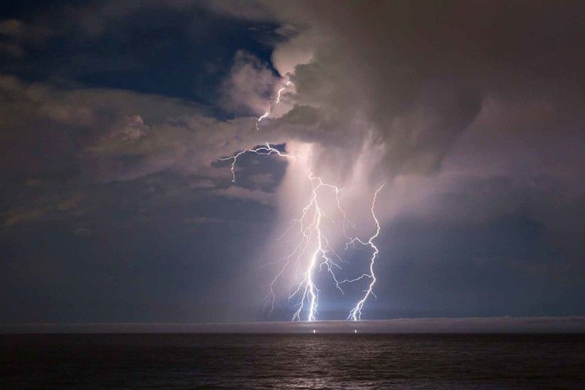 Sky Lightning Rain Nature Clouds Storm Thunderstorm HD Background Images Of