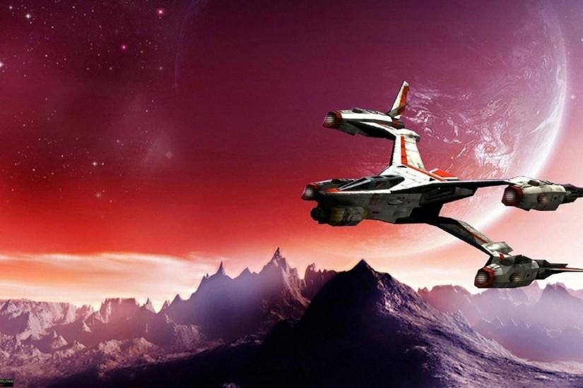 TV Show - Babylon 5 Ship Planet Moon Wallpaper