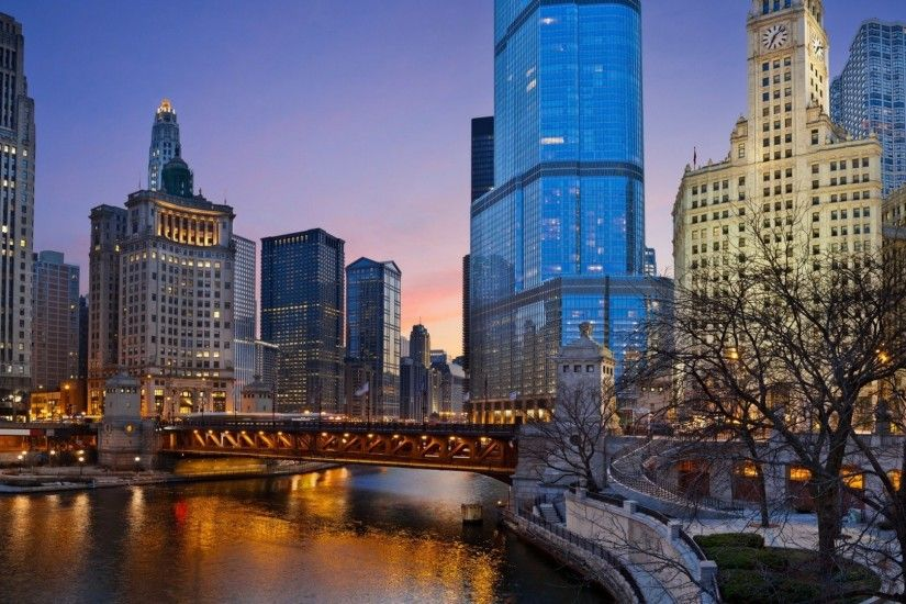 HD Wall Paper 1920X1080 Chicago | above is Chicago illinois night Wallpaper  in Resolution 1920x1080 .