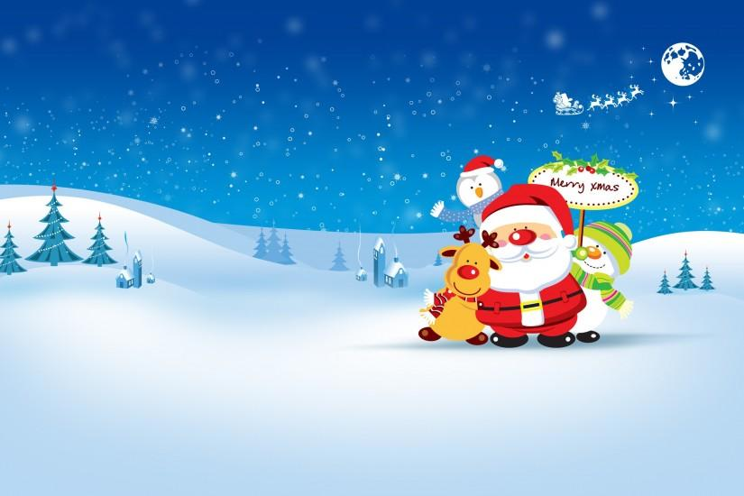 HD Free cute Christmas background.