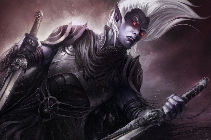 Fantasy art drizzt drow dark elf wallpaper | 1920x1200 | 17109 .