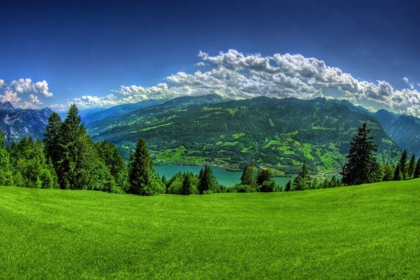 Nature Green Hills Wallpapers