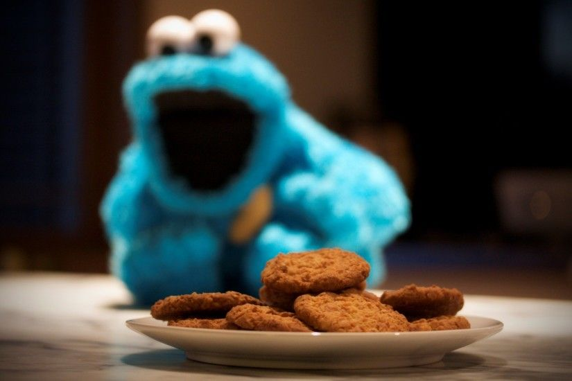 cute cookie monster wallpaper free - cute cookie monster category