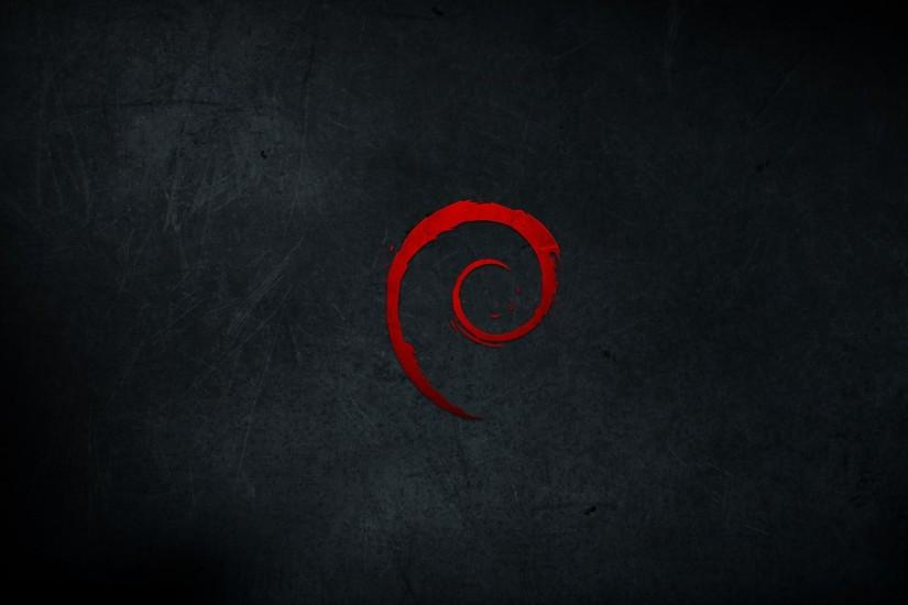 Dark Red Wallpaper 1920x1080 Dark, Red, Scratches, Debian