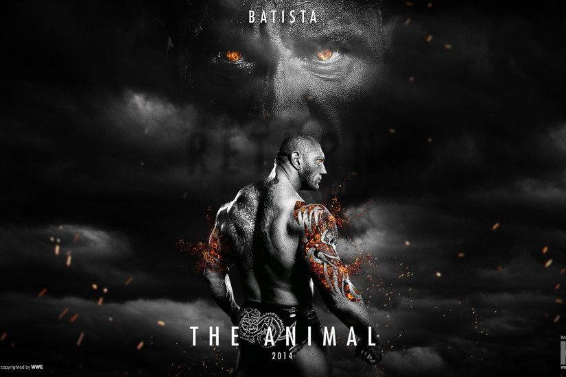 Download WWE Dave Batista 2014 Free wallpaper in Sports wallpapers .