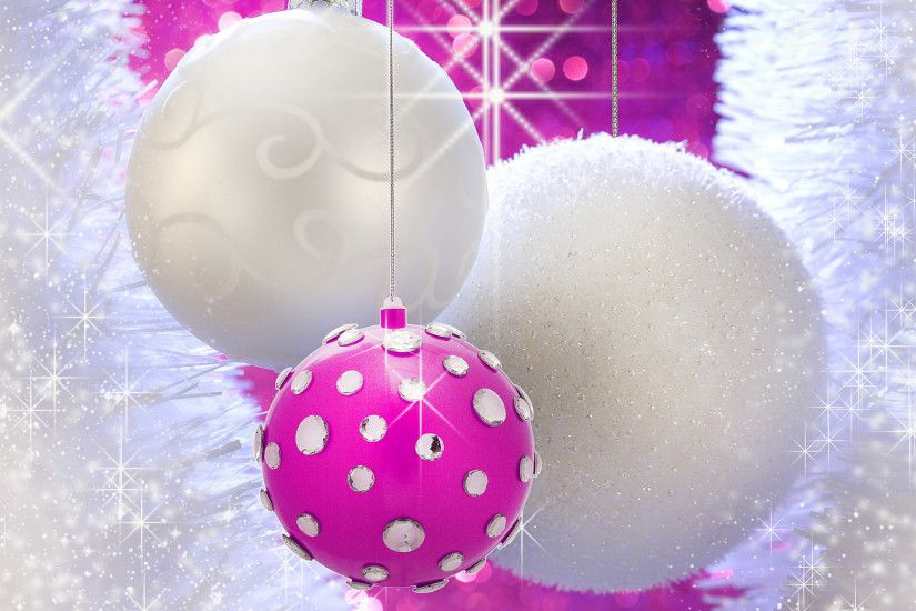 Cute Pink Christmas Wallpaper : Christmas balls baubles and