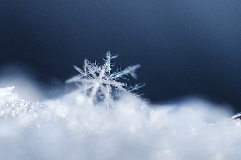 Preview wallpaper snowflake, snow, surface 1920x1080