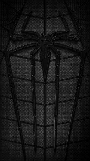 Download Black Spiderman Logo 1080 X 1920 Wallpapers