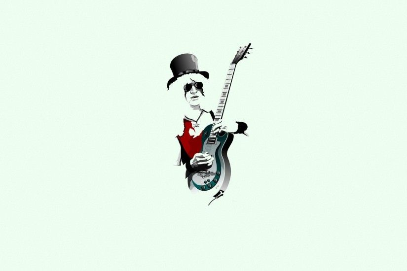 musician, Men, Guitarist, Digital art, Simple background, Music, Guitar, ·  music, Guns N Roses