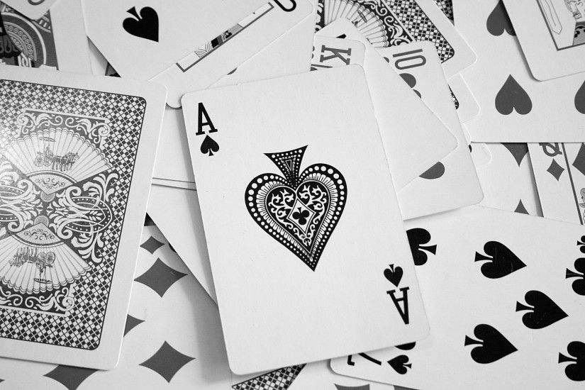 cards ace of spades monochrome