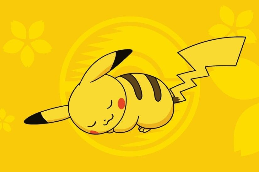Sleeping Pikachu - Pokemon wallpaper 1920x1080 jpg