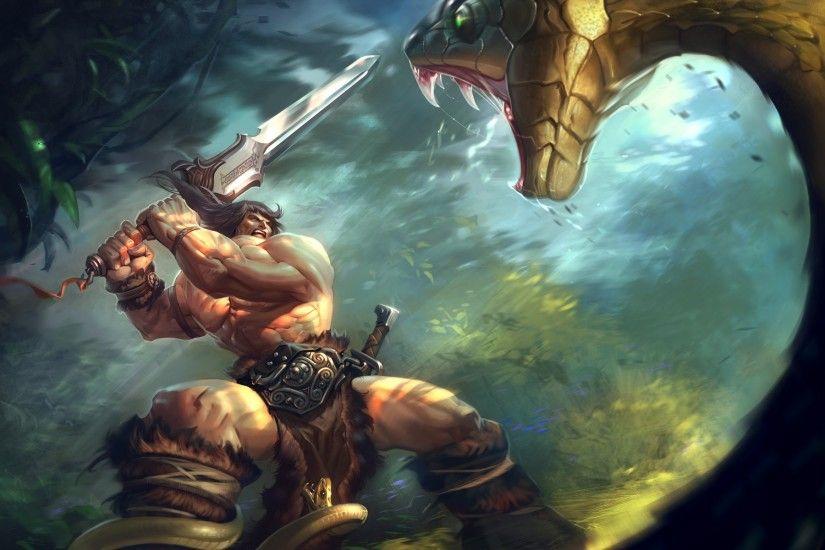 Barbarian Clash Of Clans Hd Hd Games 4k Wallpapers: Barbarian Wallpaper ·①