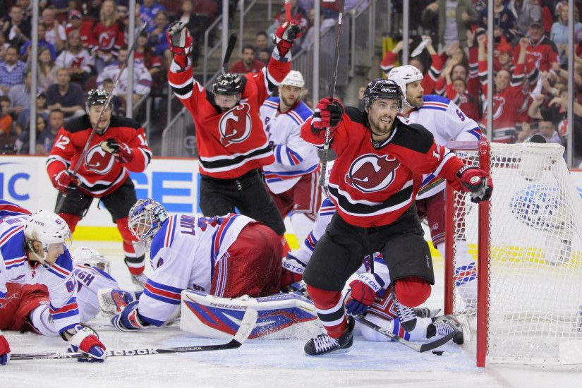 This in the New Jersey Devils beating the New York Rangers in the Eastern  Conference Finals. Adam Henrique scored the winning goal.