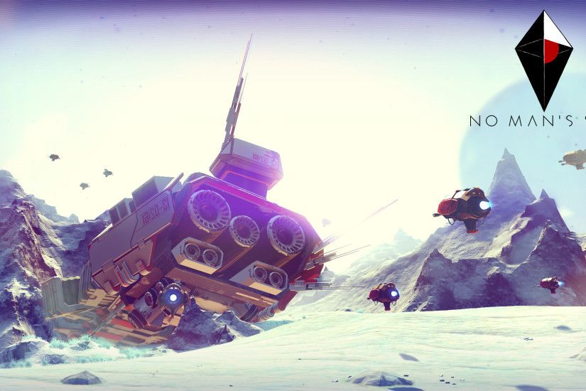 Crashed spaceship in No Man's Sky wallpaper 1920x1080 jpg