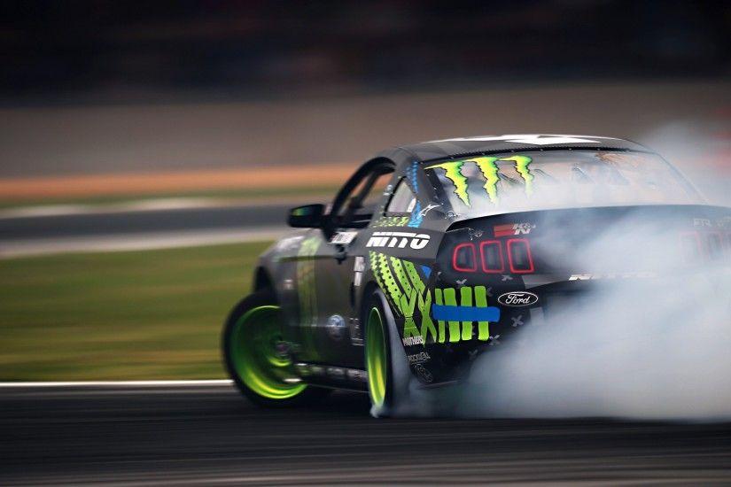 Wallpaper Cars · Ford Mustang · Monster Energy
