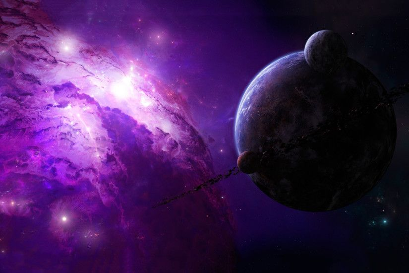 Download now full hd wallpaper planet violet nebula amazing ...