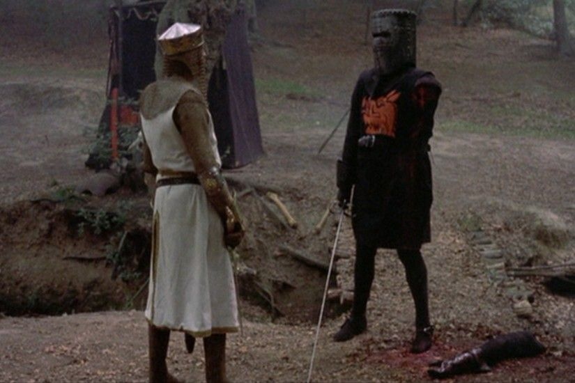 "MONTY PYTHON AND THE HOLY GRAIL -- ""tis but a scratch"" hahahaha"