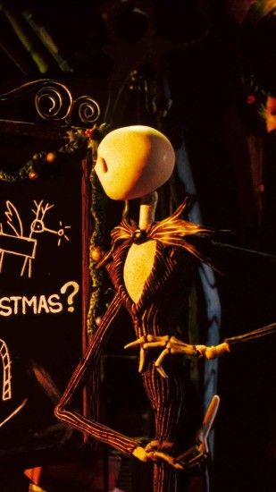Formula Chalkboard 2014 Halloween Jack Skellington iPhone 6 Wallpaper -  Nightmare Before Christmas Movie #2014