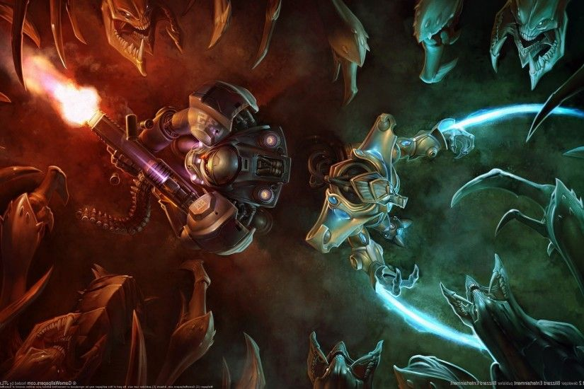 video Games, Attack, Starcraft II, Terrans, Protoss, Zerg Wallpapers HD /  Desktop and Mobile Backgrounds
