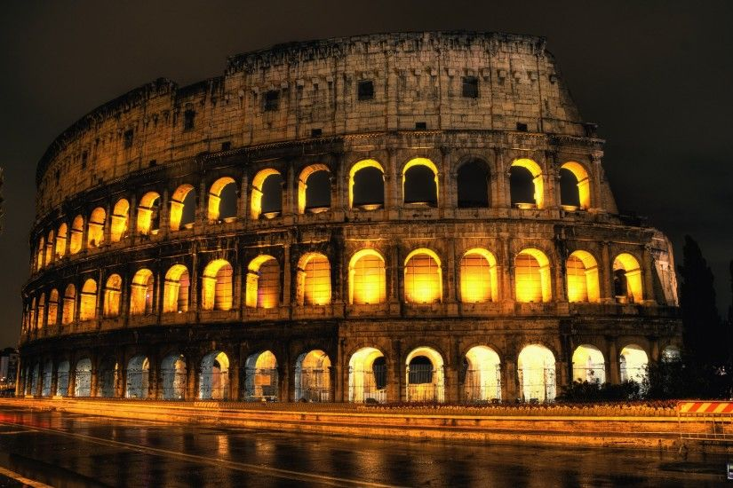 Colosseum Large View Wallpaper