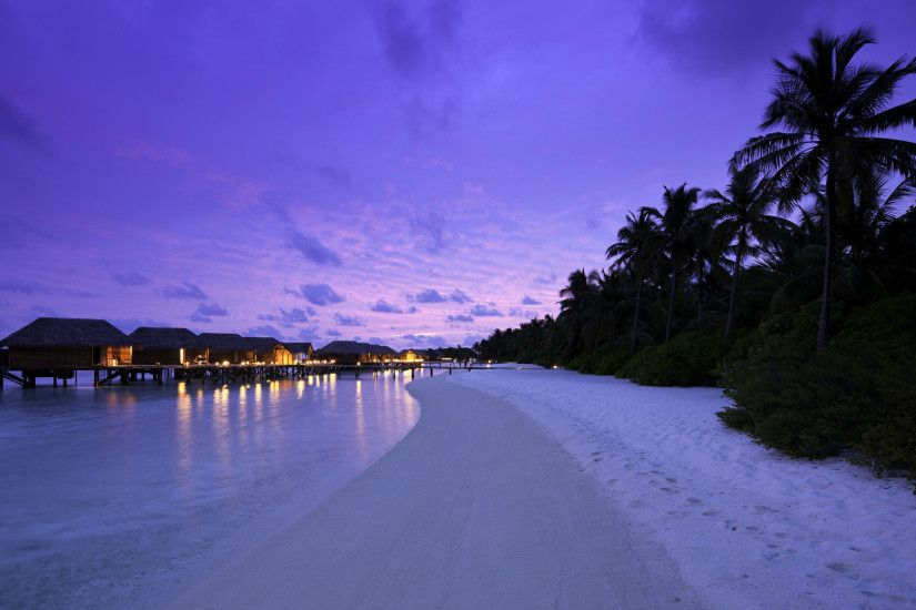 ... Free Beach At Night Picture Download. ...