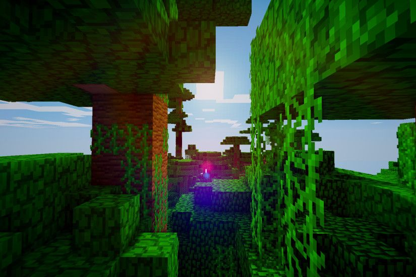 ... Minecraft wallpaper 1080p 5 'Simple Jungle' by Legendtish