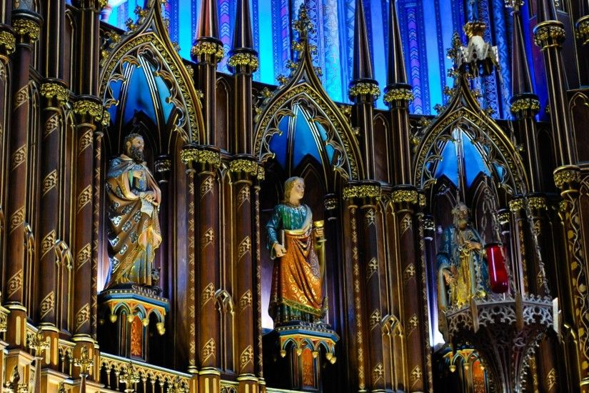 Religious - Notre Dame Basilica in Montreal Wallpaper