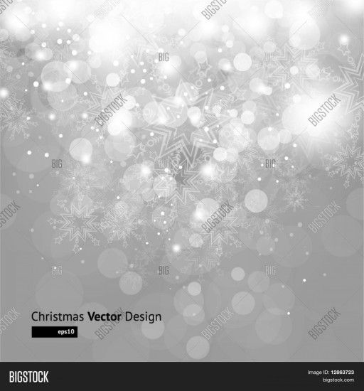 Stock Vector Light Silver Abstract Christmas Background With White  Snowflakes