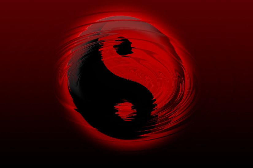 Wallpaper #100 Yin Yang Ripple | Red and Black Wallpapers